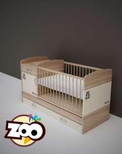 Todi Zoo kombi Kiságy #tölgy-bézs 70x120cm  30312424