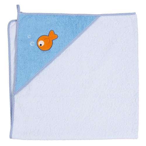 Ceba Baby kapucnis Fürdőlepedő 100x100cm - halacska
