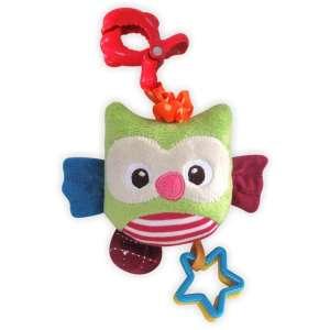 Baby Mix zenélő plüss játék - színes bagoly 30312812 Babakocsi, kiságy játék