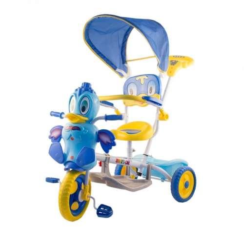 Szülőkormányos Tricikli #kék, sárga