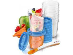 Avent Etetőrendszer szett - 20db #kék 30306398 Gyerek étel-és italtároló