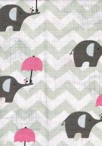 Textil pelenka 1db - Elefánt #szürke-rózsaszín 30305165