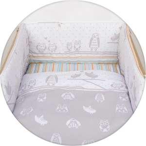 Ceba Baby 5 részes babaágynemű - Silver - - baglyok 30309357