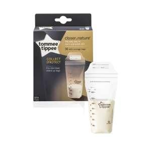 Tommee Tippee Closer To Nature anyatej Tároló Zacskó 36db/csomag 30310366 Tejgyűjtő kagyló, tejtároló