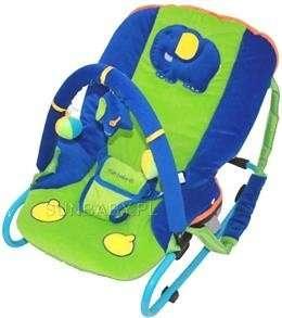 Sun Baby plüss Pihenőszék - Elefánt #kék-zöld