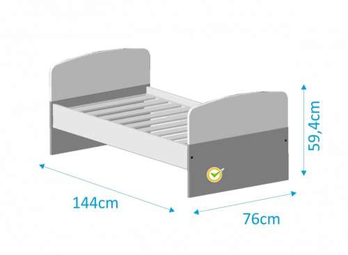 Todi Kaméleon junior ágy 70x140cm #fehér-élénkzöld