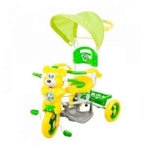 Szülőkormányos Tricikli - Maci #zöld-sárga  30313161