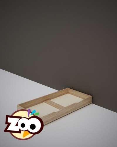 Todi Zoo gurulós Ágyneműtartó #tölgy-bézs 60x120cm