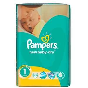 Pampers New Baby-Dry Pelenka 1 Newborn (43db) 30486082