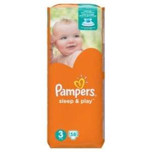 Pampers Sleep & Play Pelenka 3 Midi (58db) 30485654 Pelenka 3-as méret: MIDI / 3