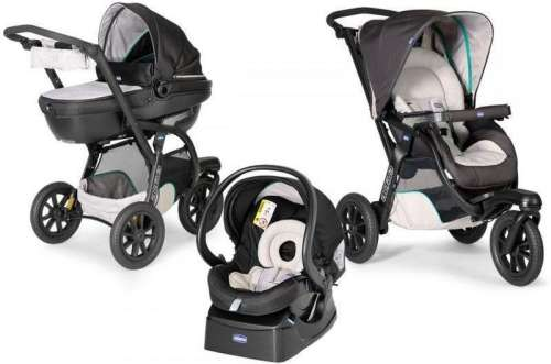 Chicco Trio Activ3 Top 3in1 Babakocsi fekete vázzal  fekete  64f15831d5