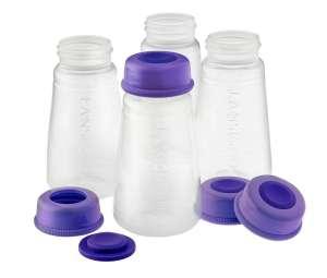 anyatej Tároló palackok 150ml 4db 30479332 Tejgyűjtő kagyló, tejtároló