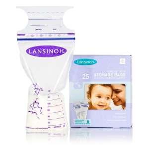 Lansinoh anyatej Tároló Zacskó 25db 30489427 Tejgyűjtő kagyló, tejtároló
