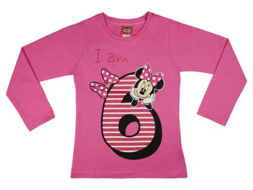 Disney Minnie szülinapos hosszú ujjú Póló (méret  122)  72cd40dc31