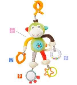 Baby Fehn felakasztható Csörgő - Majom 30371840 Babakocsi, kiságy játék