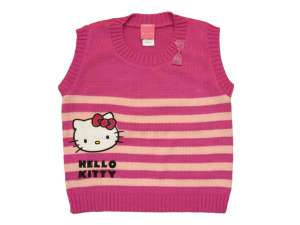 Hello Kitty lány baba és gyerek csíkos kötött Mellény (méret: 74-134) 30396064 Gyerek mellény