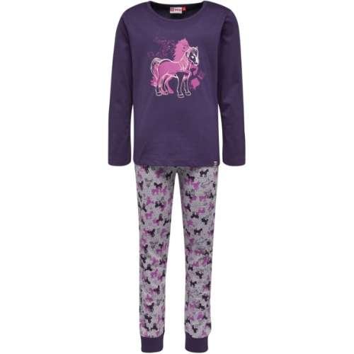 Lány Pizsama - Ló #lila