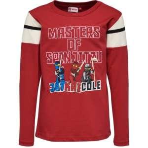 ce12945e65 Teo Lego Ninjago piros hosszúujjú felső fiúknak 30253548 Gyerek hosszú ujjú  póló