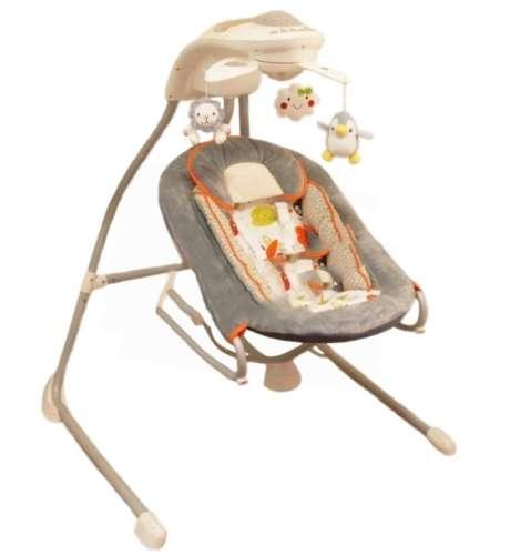 Baby Mix ProDesign elektromos távirányítós babahinta #szürke