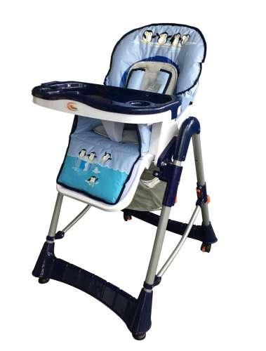 MamaKiddies ProComfort #kék pingvin mintás multifunkciós Etetőszék + Ajándék