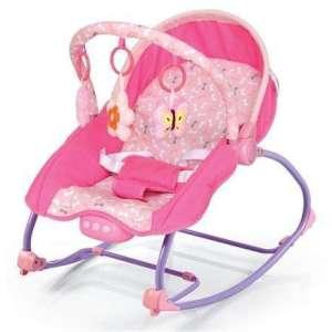 Baby Mix hordozható rezgő-és zenélő Pihenőszék #rózsaszín 30253931