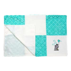 BabyOno puha minky patchwork Babatakaró 75x100cm #türkiz  30255378