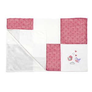 BabyOno puha minky patchwork Babatakaró 75x100cm #rózsaszín 30255379