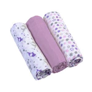 BabyOno színes Textil pelenka 3db #lila 30255404 Textil pelenka