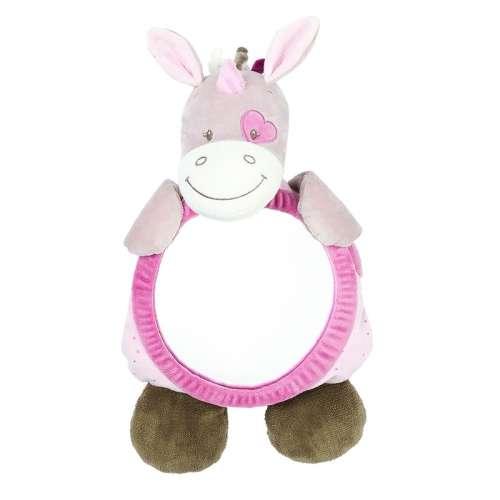 Nattou plüss babafigyelő Tükör - Egyszarvú #rózsaszín-bézs 30255413