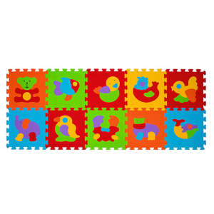 BabyOno szivacsPuzzle szőnyeg 10db állatos 30255456