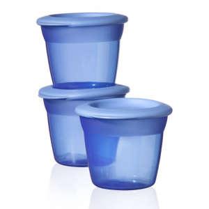 Tommee Tippee Essential Basic Ételtároló tetővel - 3db#kék 30256328 Étel-Ital tároló