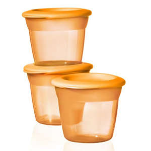 Tommee Tippee Essential Basic Ételtároló tetővel #narancssárga 30256327