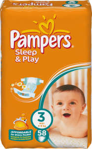 Pampers Sleep & Play Pelenka 3 midi (58db) 30255472