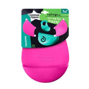 Tommee Tippee Roll & Go műanyag Előke #rózsaszín 30256391 Előke, büfikendő