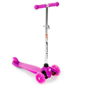 Háromkerekű világító roller #rózsaszín 30475870