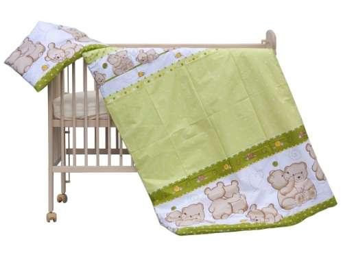 Ágyneműhuzat 100x135cm - Ölelő macik #zöld