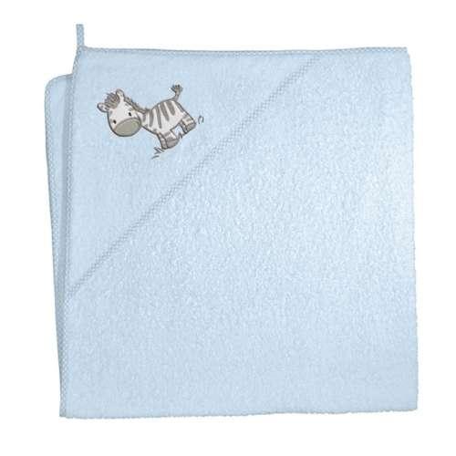 Ceba Baby kapucnis Fürdőlepedő 100x100cm #kék - zabra