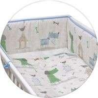 Ceba Baby 5 részes babaágynemű #kék-zöld kutya 30309000