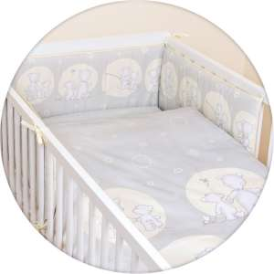 Ceba Baby 5 részes babaágynemű #szürke Papa Bear 30305625