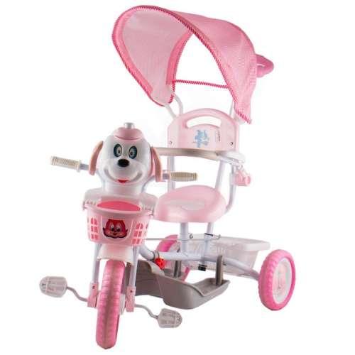 Szülőkormányos Tricikli #rózsaszín kutya