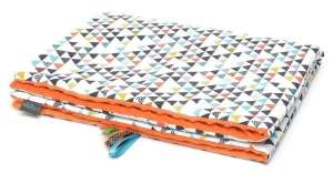 Pihe-puha minky Takaró - Színes háromszögek #narancssárga 30478512