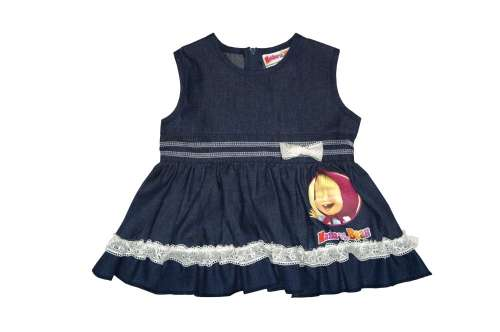 Mása és a medve gyerek farmer ruha (méret  68-116)  4021689b96