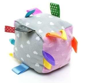 Babakocka - Szív #szürke-rózsaszín 30481779 Fejlesztő játék babáknak