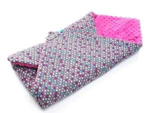 Minky prémium Pólya - Színes szívek  rózsaszín 0f1b547222