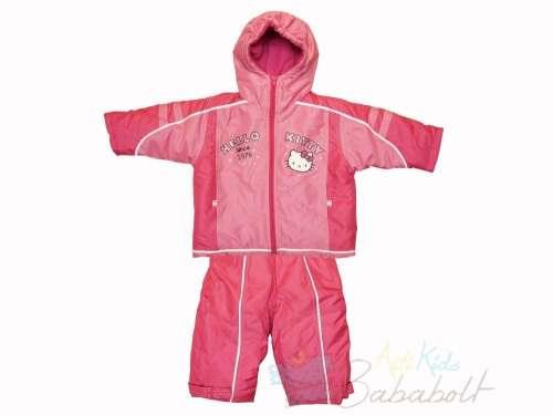 Hello Kitty baba és gyerek téli dzseki és kantáros nadrág (méret  80-110).  Színe  Utolsó darabok 11f6f6949f