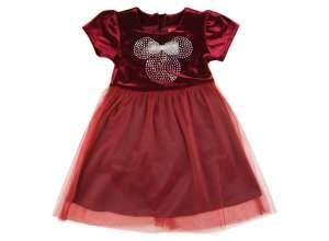 Disney Minnie rövid ujjú bársony ruha (méret: 92-128) 30478803