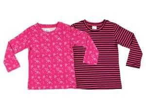 Akciós hosszú ujjú lányka Pólók párban (méret: 86-134) 30484436