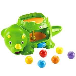 Fisher Price Dínókoma színes labdákkal 30489102 Fejlesztő játék bölcsiseknek