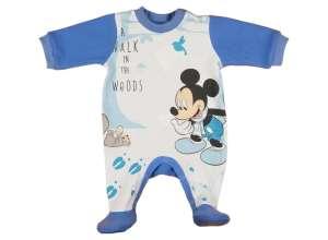 Disney Mickey hosszú ujjú belül bolyhos Rugdalózó (méret: 56-74) 30488500