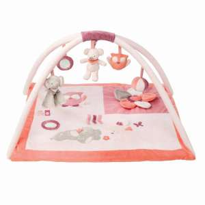 Nattou plüss Játszószőnyeg Adele & Valentine #rózsaszín 30486850 Bébitornázó és játszószőnyeg